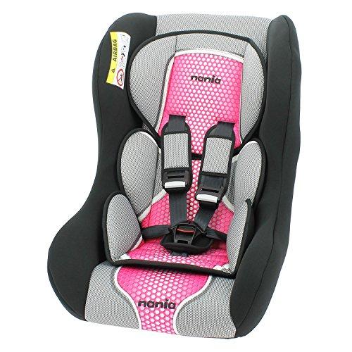 Autositz von 0bis 25kg-Gruppe 0/1/2-Herstellung 100% française- Reduzierstück Neue geboren-3Sterne Test TCS-Kopfkissen und inklusive Klingenschutz für mehr Komfort-Fünfpunktgurt