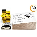 Double Sided Dry Erase Boards, Ohuhu 30-Pack 9 x 12 Inch Whiteboards Set, Including 30 x Lap Board, 30 x Black Markers, 30 x White Boards Eraser for Students, Classroom, Back to School Supplies