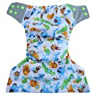 Reusable Pocket Cloth Diapers + 2 Microfiber Inserts   One Size Fits All Newborn Baby to Toddler   Natural Bamboo Charcoal Anti-bacterial and Eco Friendly   Advanced Double Leak Guard Technology 7x's More Absorbent   Easy to Clean   Boy or Girl Adjustable Comfort Fit Design  100% Guaranteed By Bambungle