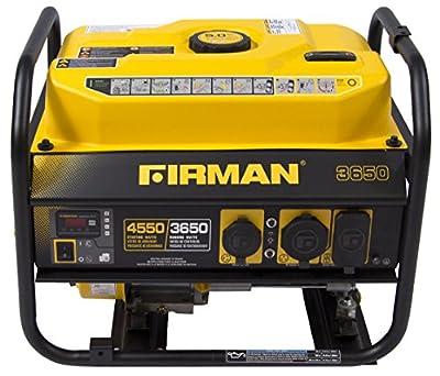 FIRMAN Power Equipment P03601 Gas Powered 4550/3650 Watt (Performance Series) Extended Run Time Portable Generator
