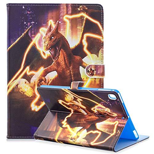 iPad Mini 3 4 5 Cartoon Case, Hwota Cute Cartoon Super Hero Kids Girls Slim Flip Folio Stand Leather Case Auto Sleep/Wake Feature Smart Cover for Apple iPad Mini 1 2 3 4 5 (Charizard) -