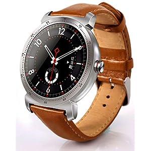 Burberrya reloj deportivo inteligente, monitor de ritmo cardíaco, podómetro, pantalla redonda en color, para hombres