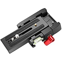 Neewer Professional Aluminum Alloy Quick Release Plate Adapter with 1/4 3/8 inches Screw for DSLR Camera Camcorder Tripod Monopod, Compatible for Manfrotto 501HDV 503HDV 701HDV 577/519/561/Q5