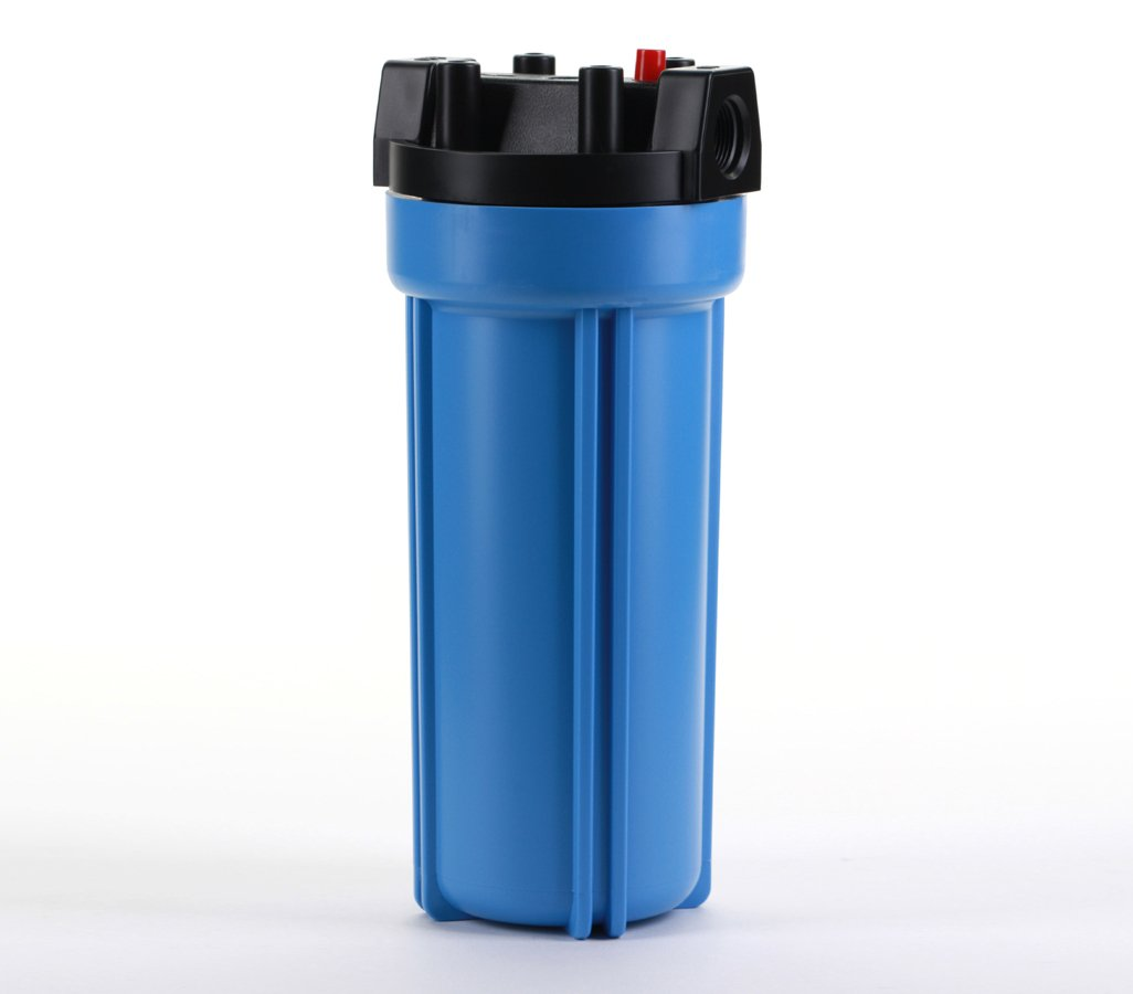 Hydronix HX-HF5-10BLBK34PR Water Filter Nsf Listed 10'' RO, Whole House, Hydroponics-3/4'' Ports, Blue w/PR, Blue/Black