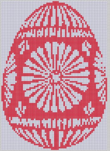 Red Easter Egg Cross Stitch (Easter Cross Stitch Pattern)