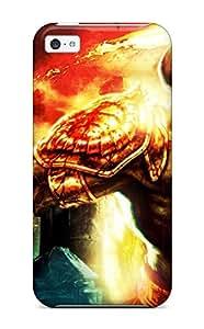Flexible Tpu Back Case Cover For Iphone 5c - Kratos God Of War 3 wangjiang maoyi