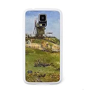 CaseCityLiu - Moulin de la Galette Vincent Willem van Gogh Oil Painting Design White Bumper Plastic+TPU Case Cover for Samsung Galaxy S5