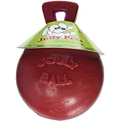 Jolly Pets 4.5-Inch Tug-n-Toss, Red