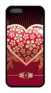 Unique Design Illustration Art Painting - Love 2 Custom Protective Soft TPU Back Case Cover for iphone 5 5S (Black)