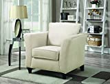 Cheap Coaster Park Place Casual Cream Upholstered Chair with Flair Tapered Arm