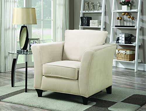 Coaster Park Place Casual Cream Upholstered Chair with Flair Tapered Arm (Living Place Room Park)