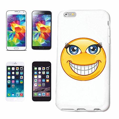 """cas de téléphone iPhone 7 """"NAUGHTY RIRE SMILEY """"SMILEYS SMILIES ANDROID IPHONE EMOTICONS IOS grin VISAGE EMOTICON APP"""" Hard Case Cover Téléphone Covers Smart Cover pour Apple iPhone en blanc"""