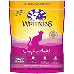 Wellness Complete Health Natural Dry Indoor Cat Food, Salmon & Whitefish, 2.5-Pound Bag