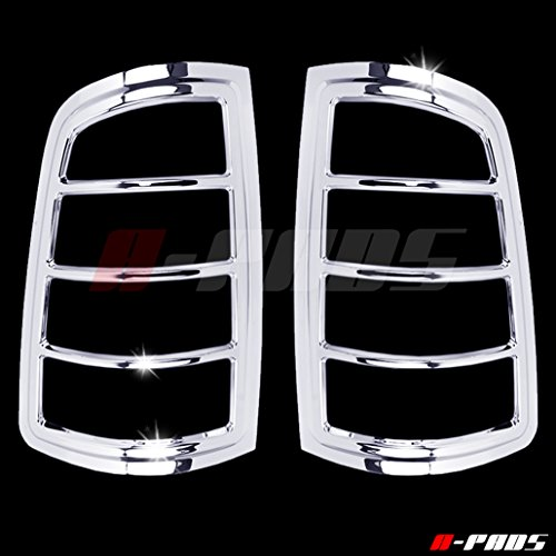 Classy Bezel - A-PADS Chrome Tail Light Covers for Dodge RAM 1500 2009-2017 / 2500 & 3500 2010-2016 - Rear Lights Taillights Bezel PAIR