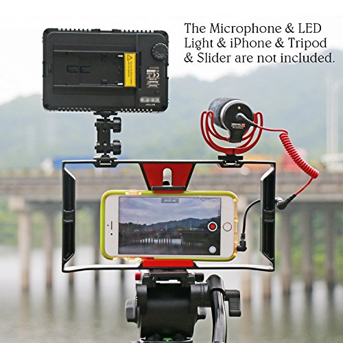 Smartphone Video Rig - Ulanzi Smartphone Filmmaking Recording Vlogging Rig Case,Cell Phone Movies Mount Stabilizer for Mobile Phone Film-Maker Videographer for iPhone Xs Max XR X 8 7 Plus (U-Rig)