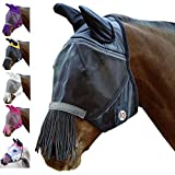 Derby Reflective Fly Mask with Ears & Nose Fringes - All Sizes