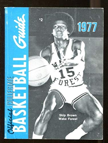 1977 Official NCAA Collegiate Basketball Guide Skip Brown Wake Forest 44250 ()