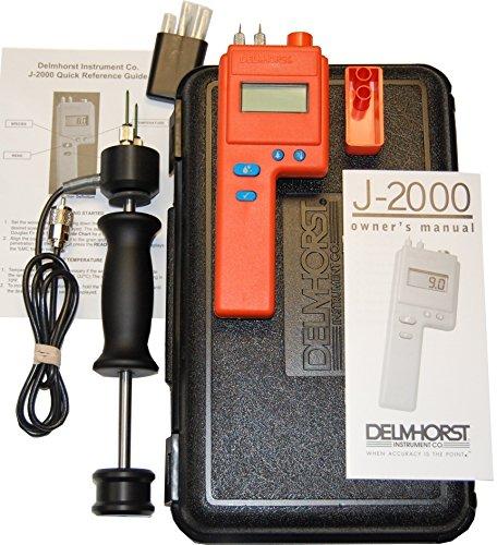 Delmhorst J-2000/PKG Digital Pin-Type Wood Moisture Meter, Expanded Package