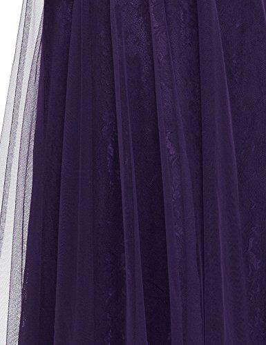 Ever Pretty - Vestido - corte imperio - para mujer Morado Oscuro