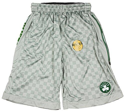 Zipway NBA Big Men's Boston Celtics Checkered Shorts, Gray (5XL BIG)