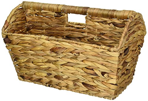 Household Essentials Portable Wicker Magazine Rack, Natural (Wicker Wrapped Box)