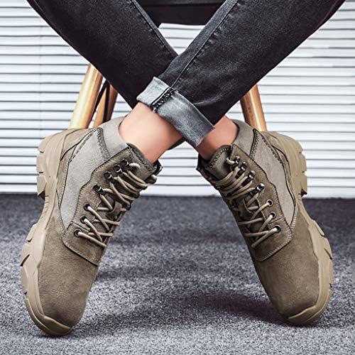 ワークブーツ トレッキングショートブーツ 編み上げ ミリタリー 人気 耐磨耗 男女兼用 ラウンドトゥブーツ 裏ボア ハイカットハンサム 滑り止めスノーブーツ ファッション メンズ 冬靴 カントリー デザートブーツ