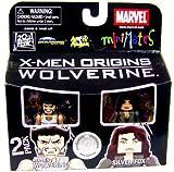 Marvel Minimates Exclusive X-Men Origins Wolverine 2 Pack Weapon X Wolverine and Silver Fox