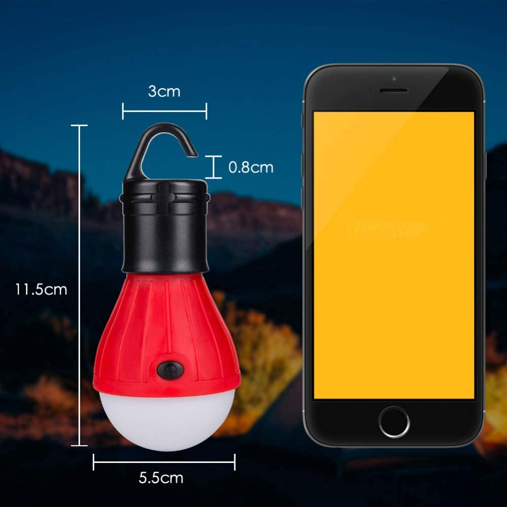 Hiking Battery Powered Outdoors /& Indoors Emergency Lighting Outage Portable Outdoor Tent Light Emergency Bulb Light for Camping GL LED Camping Lantern, Fishing Include 4 Pack