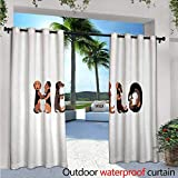 lovely backyard patio cover design ideas Dachshund Patio Curtains Dachshund Puppies Spelling The Word Hello Lovely Animal Font Design Outdoor Curtain for Patio,Outdoor Patio Curtains W108 x L108 Brown Caramel Taupe