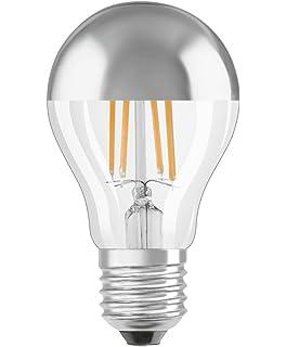 Osram LED Retrofit Classic A Mirror Bombilla E26/E27, 4 W, Blanco