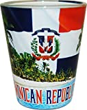 CityDreamShop's Dominican Republic Beach Design Souvenir Shot Glass- Featuring the Dominican Flag