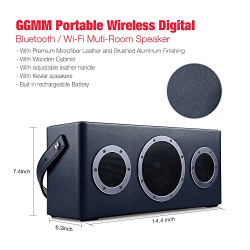 Best price for [Apple Airplay Certified]GGMM M4 Wireless Speaker for Music Streaming,Wi-Fi Bluetooth Indoor Outdoor Speaker, Built-in Battery,10-Hour Playtime,Powerful 40W Audio Driver,Enhanced Bass,Multi Room Play