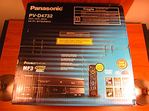 Panasonic PV-D4732 Double Feature VHS VCR Recorder DVD Combo - Vhs Panasonic
