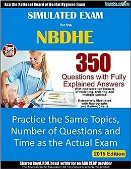 Amazon com: NBDHE Dental Hygienist Simulated Practice Exam