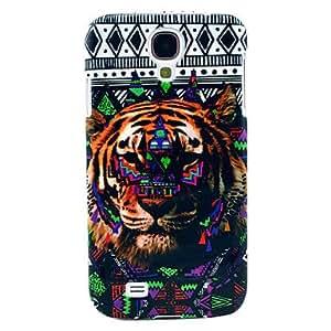 Tribu Tiger Abierto-Cara Fuerte Caja dura de la piel para Samsung Galaxy S4 i9500