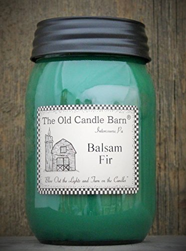 Balsam Fir 16 Oz Jar Candle - Made in the USA - Blow out The Light And Turn On The ()