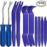 Auto Trim Removal Tools Kit Set of 10 pcs, SourceTon Car Panel Dash Radio Removal Installer Pry Tools Kit, Upholstery Removal Kit, Fastener Remover Pry Bar Scraper for Door Trim Molding Dash Panel