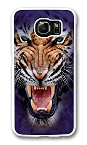 Growling Big Face Tiger Custom Samsung Galaxy S6/Samsung S6 Case Cover Polycarbonate White Kimberly Kurzendoerfer