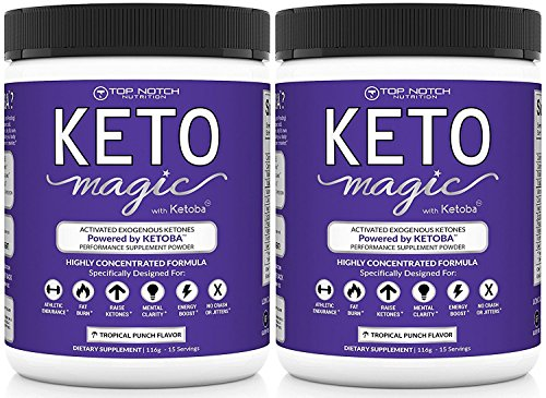 Keto Magic Exogenous Ketone Weight Loss Supplement Powered by Patent-Pending Blend KETOBA (BHB's+BA) | Achieve & Stay in Ketosis & Ketogenesis | Feel Energized, Empowered, Focused & Reach Your Goals! by Top Notch Nutrition