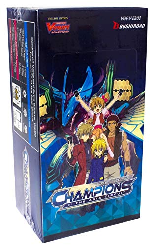 Cardfight Vanguard VGE-V-EB02-EN Champions of The Asia Circuit Booster Display Box of 12 Packets (Cardfight Vanguard Deck Box)