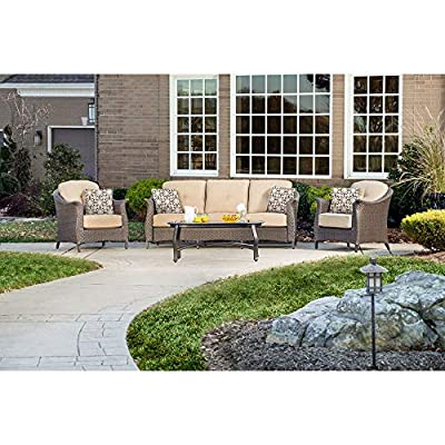 Hanover Gramercy 4-Piece Outdoor Wicker Patio Set