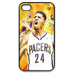 HXYHTY Customized Print Paul George Pattern Back Case for iPhone 4/4S