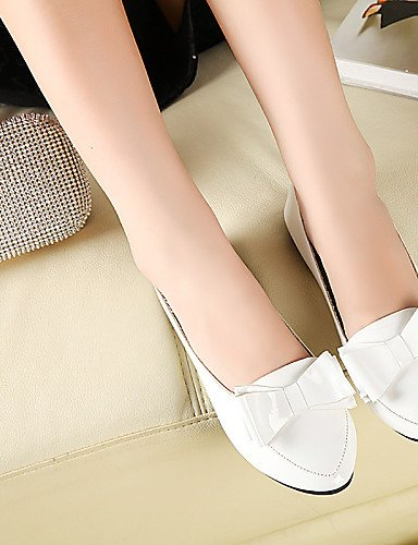 eu36 PDX de zapatos piel plano pink mujer uk4 redonda talón punta negro cn36 de Casual rosa us6 blanco sintética Flats rrTBqxwd1