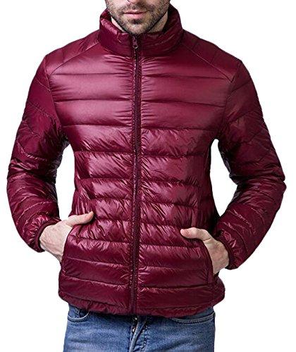 EKU Men's Winter Outwear Sport Packable Down Puffer Jacket US M Wine Red