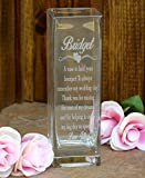 Laser Engraved Glass Vase - Etched Glass Vase Etched Glass - Wedding Gift - Gift - Mother of the Bride Gift - Mother of the Groom Gift