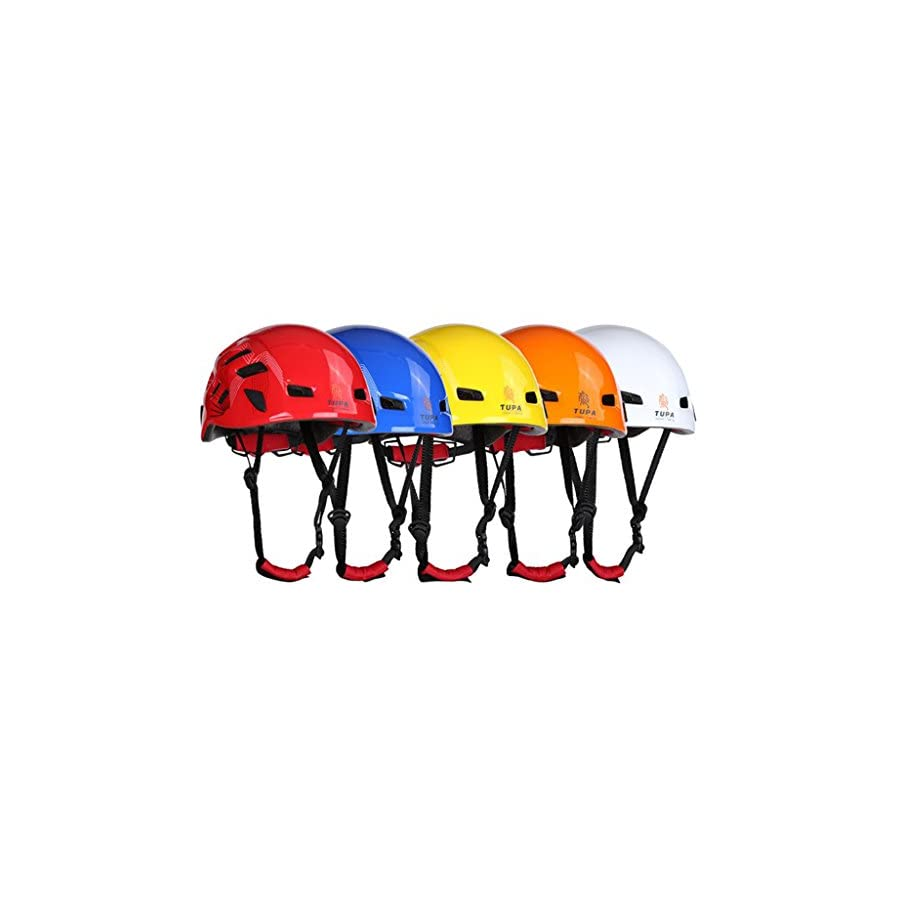 Dovewill Unisex Adjustable Vented Safety Helmet Head Protection Hard Impact Hat for Outdoor Rock Climbing Arborist Caving Construction Aerial Work Rappelling Kayak Rescue Equipment