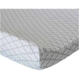Oliver B Trellis Changing Pad Cover – Dove Grey