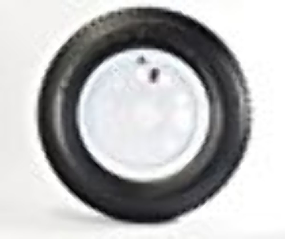 14'' White Mod Trailer Wheel with Bias ST205/75D14 Tire Mounted (5x4.5) bolt circle