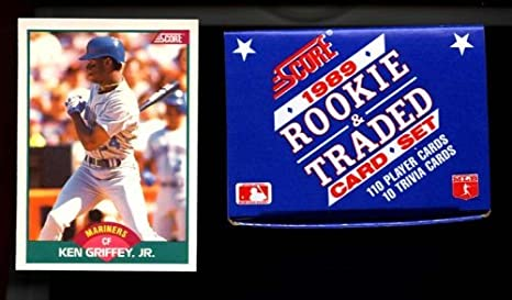 1989 Score Baseball Rookie Traded Box Set Ken Griffey Jr Rookie Card