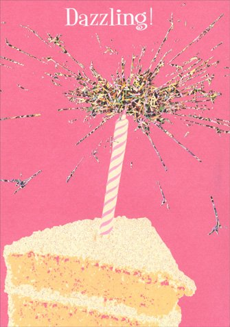 Amazon Dazzling Sparkler Cake APress Glitter Birthday Card Office Products